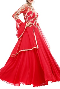 scarlet-embroidered-anarkali-set