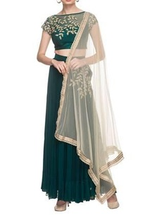 emerald-green-crop-top-with-sharara-pants-dupatta