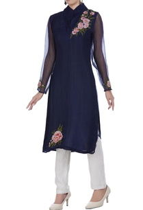 organza-embroidered-tunic-with-neoprene-pants