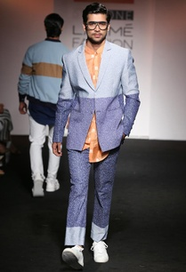 dark-light-blue-dotted-color-blocked-suit-jacket