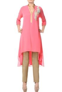 light-pink-layered-embellished-kurta