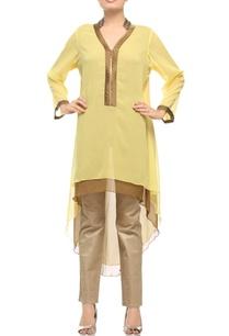 light-yellow-brown-satin-embroidered-kurta
