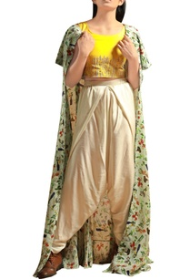 sunflower-yellow-crop-top-with-dhoti-pants-jacket