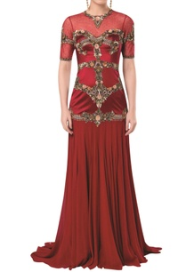 embroidered-waist-gown