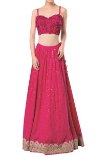 spaghetti-sleeves-blouse-with-lucknowi-embroidered-lehenga