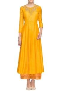 fire-yellow-embellished-kurta-with-palazzos
