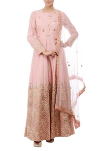 flamingo-pink-embroidered-anarkali-set