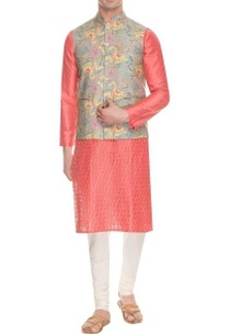 grey-floral-printed-nehru-jacket