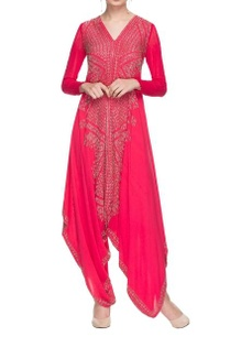 hot-pink-embroidered-jumpsuit