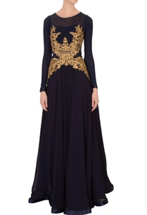 black-georgette-embroidered-maxi-dress