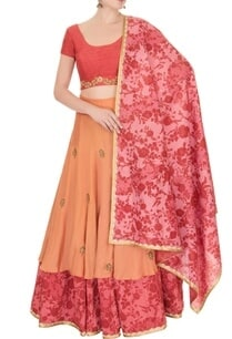 red-orange-reversible-lehenga-set