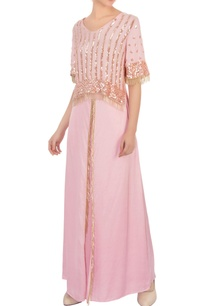 cranberry-pink-embroidered-top-with-palazzos