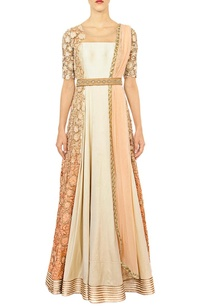 off-white-peach-shaded-anarkali-set