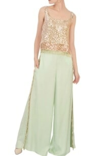 green-embroidered-top-palazzo-pants