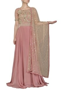 mauve-embroidered-anarkali-set
