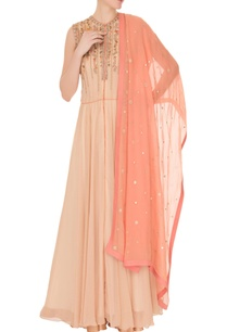 beige-embroidered-yoke-anarkali-with-palazzos-dupatta