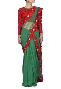 green-and-red-floral-embroidered-sari