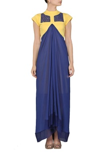 canary-yellow-and-blue-layered-dress