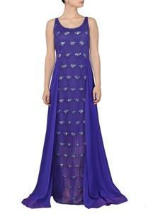 royal-blue-sequinned-dress
