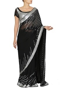 black-and-silver-sequinned-sari