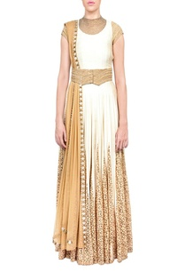 off-white-and-beige-embroidered-anarkali-with-dupatta