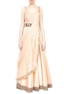 peach-embroidered-anarkali-with-attached-dupatta