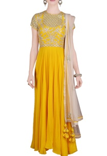 yellow-floral-embellished-anarkali-with-dupatta