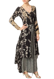 black-printed-kurta-with-printed-palazzos