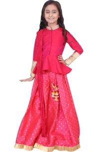 fuschia-dupion-banarasi-silk-artificial-silk-peplum-sharara-set