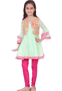 green-chanderi-viscose-embroidered-anarkali-and-churidar