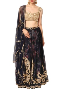 black-and-gold-embellished-lehenga-set