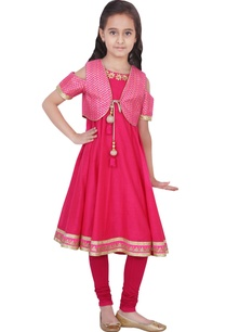 fuschia-chanderi-lycra-solid-anarkali-and-churidar