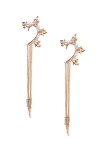 pearl-and-crystal-earcuffs-with-gold-chain-tassels