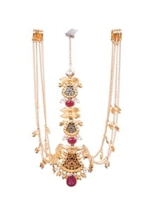 gold-leaf-maangtikka-with-pink-onyx