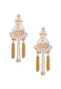 crystal-and-pearl-tear-drop-earrings-with-gold-tassels