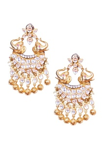 silver-kundan-elephant-earrings