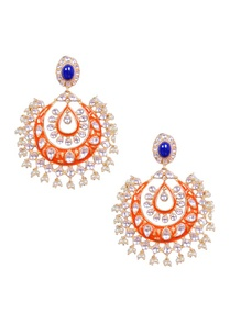 orange-and-silver-kundan-chandbalis
