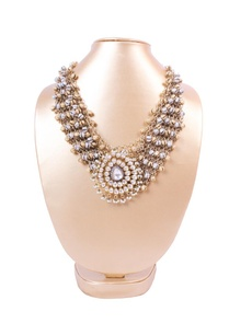 silver-and-gold-ghungroo-necklace-with-kundan-tear-drop