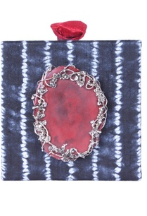 indigo-dyed-embellished-square-clutch