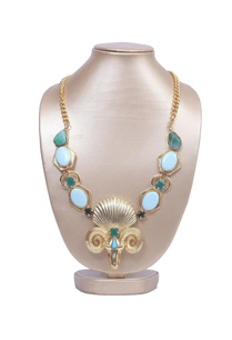 turquoise-and-green-shell-necklace