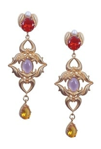 gold-rococo-red-and-yellow-dangler-earrings