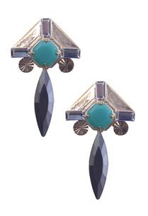 green-and-black-leaf-droplet-earrings