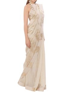 chiffon-foil-print-sari-with-sequin-blouse