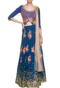 imperial-blue-sequin-work-lehenga-set