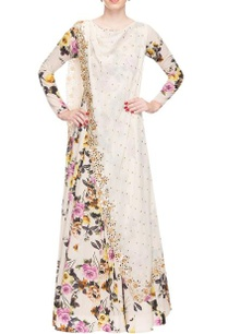 ivory-floral-print-and-mirror-work-anarkali
