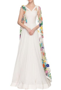 ivory-gown-with-embroidered-drape-sleeves
