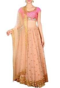 jaipuri-pink-coral-embellished-lehenga-set