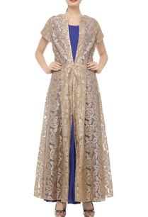 blue-beige-gold-rose-embroidered-jacket-with-dress