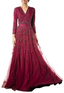 wine-bead-embellished-gown