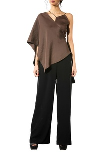 brown-draped-blouse